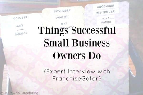 Things Successful Small Business Owners Do