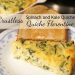 Crustless Spinach and Kale Quiche