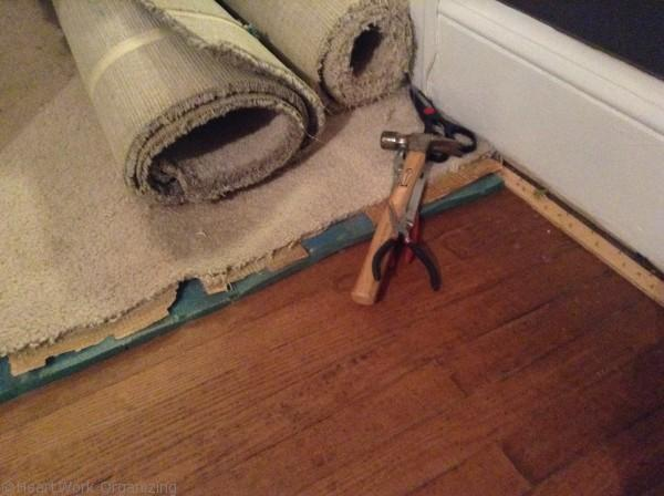 ripping up carpet that is making your family sick