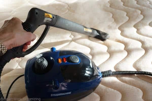 clean a mattress with a steamer