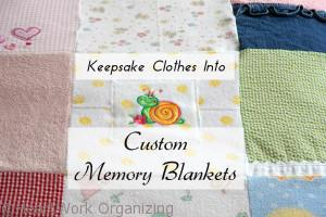 memory blankets frm old clothes