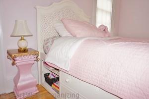 big girl room makeover bed