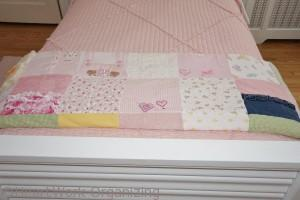 memory blanket from girls baby clothes