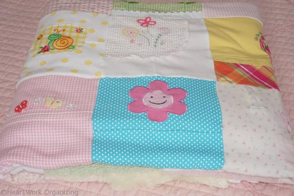 memory blanket from keepsake baby clothes