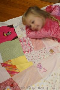 memory blanket from old baby clothes