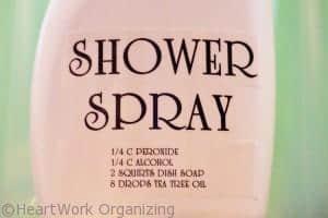 DIY shower spray recipe