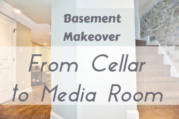 basement makeover from cellar to media room