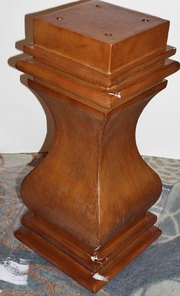 broken table pedestal
