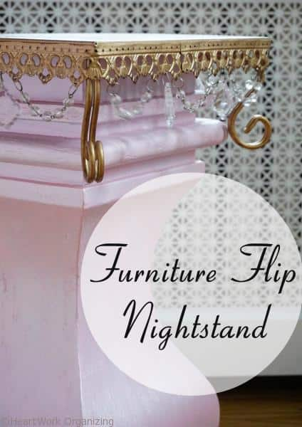 Furniture flip nightstand with Modern Masters paint