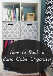 How to style basic cube organizer shelves