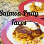 Salmon Patty Tacos