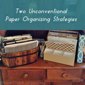 how to organize paper