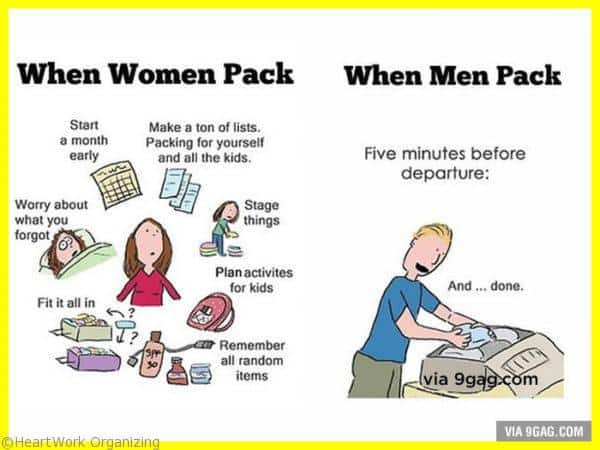 packing women vs men