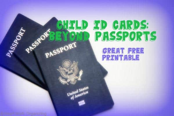 Child ID Cards you can print at home