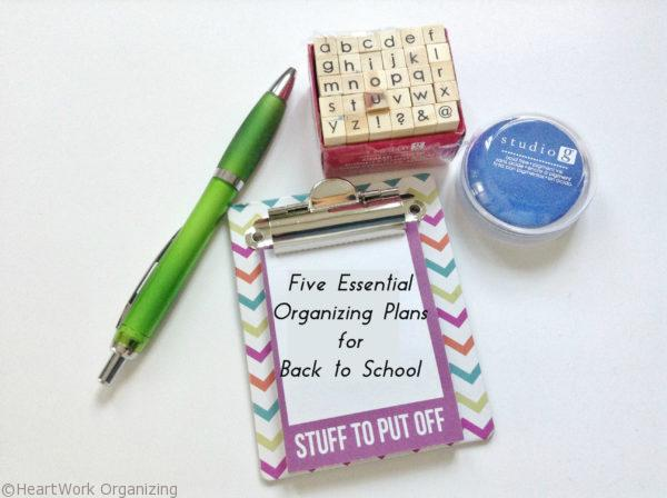 Five things to do for Back to School