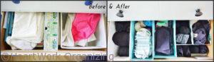 organizing the sock drawer