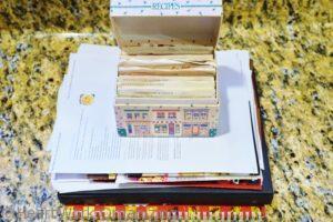 organizing printed recipes
