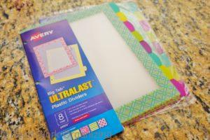 Avery Page Dividers to organize recipes