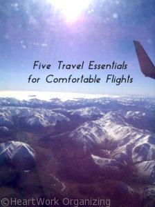 Five Travel Essentials for Comfortable Flights