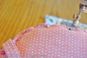 hand sewing seat cushion