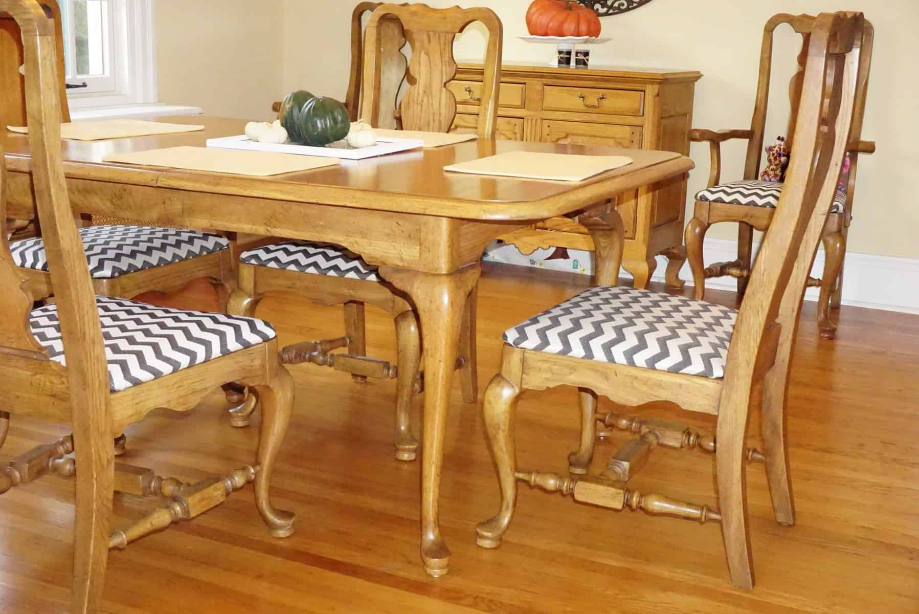 Reupholstered Dining Chair Seat Cushions