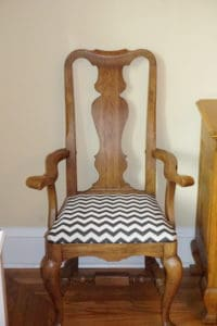 finished reupholstered dining chair