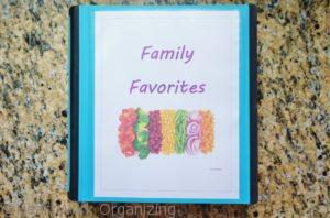 family favorites organized recipes