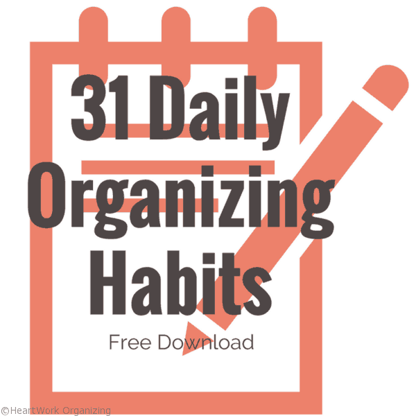 31 Daily Organizing Habits to get organized for New Year