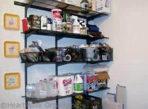 garage shelf labels for organizing