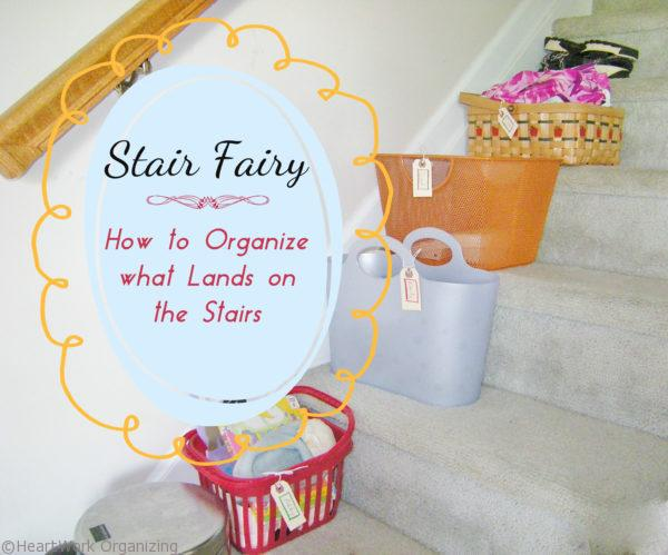 how to organize at home on the stairs