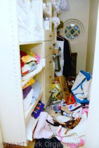 how to organize a cluttered linen closet