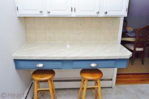 faux granite and faux marble after