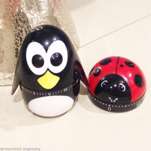 ladybug and penguin timer for organizing