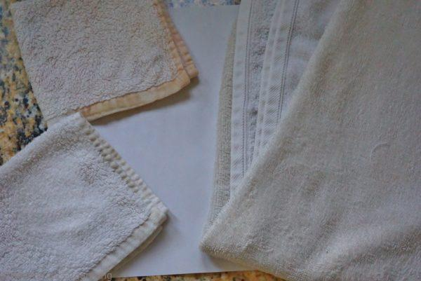 how to naturally whiten towels, after