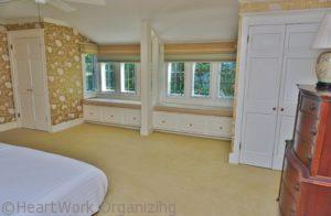 home staged master bedroom