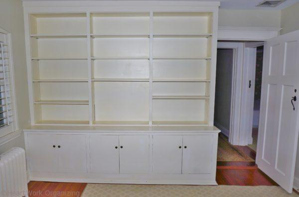 built in office in home staging