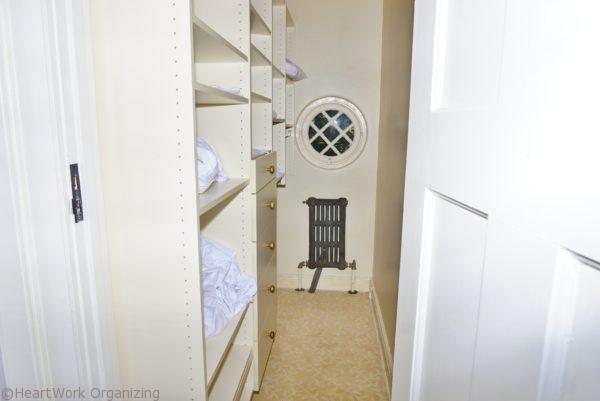home staging linen closet