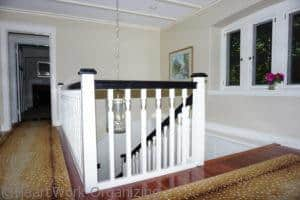 staircase home staged