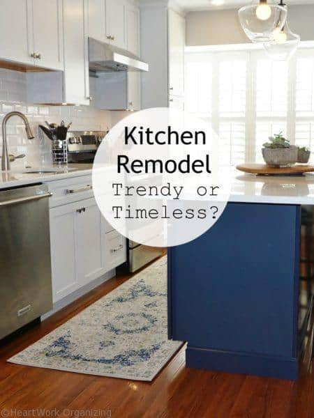 Kitchen remodel trendy or timeless