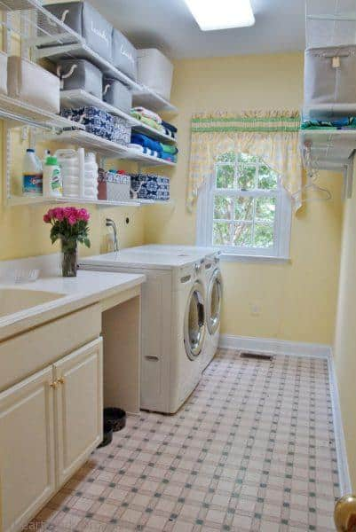 organized laundry room- after
