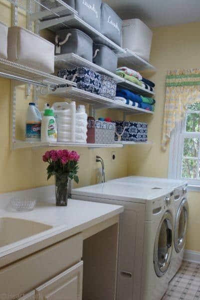 reset laundry shelves