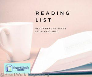 Reading List from NAPO 2017 Professional Organizers