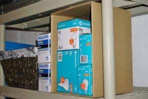 bins for organizing basement