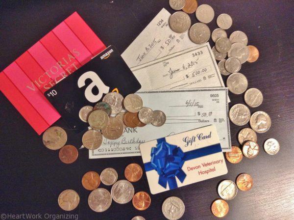 found money while organizing