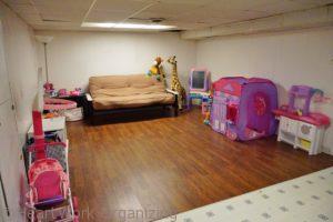 basement playroom after