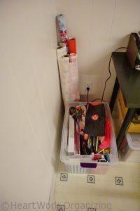 organizing gift wrap