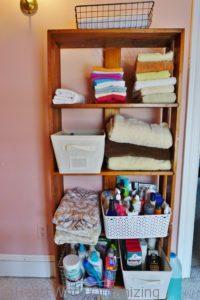 storage shelf, after