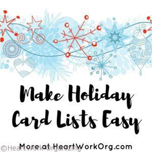 Holiday Tip- Make Holiday Cards Easy