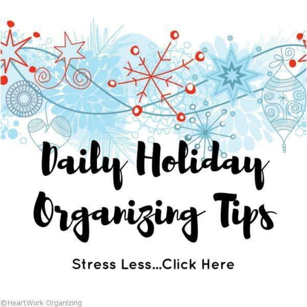 Free Daily Holiday Organizing Tips