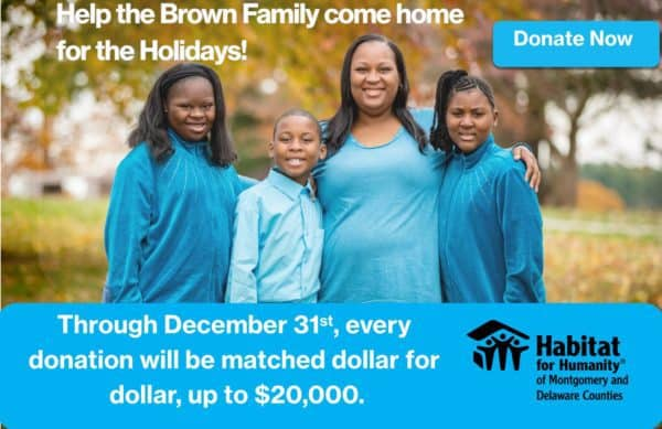 Habitat for Humanity home dedication for Brown Family